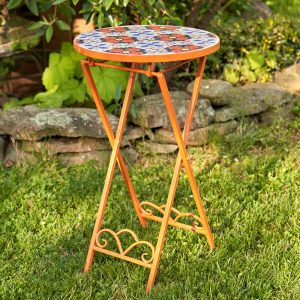 """Saint Petersburg"" Small Mosaic Accent Table"