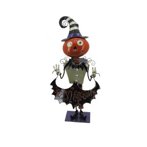 "Short Iron Halloween Figurine with Open Body ""Leonardo"""