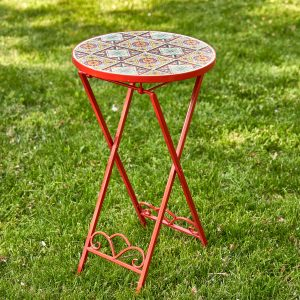 """Tokyo"" Small Mosaic Accent Table"