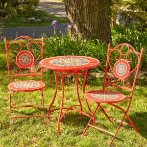 Paris II Mosaic Bistro Set