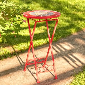 """Paris II"" Small Mosaic Accent Table"