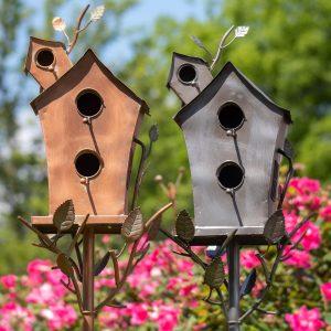 BIRDHOUSES, BIRDBATHS, AND BIRDFEEDERS