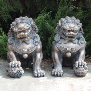 Foo Dog Sentry Statues