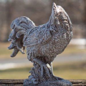 Magnesium Rooster Garden Statue