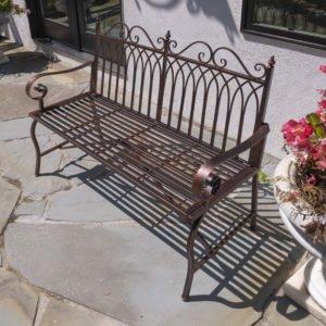 Valley Forge Iron Garden Bench in Antique Bronze