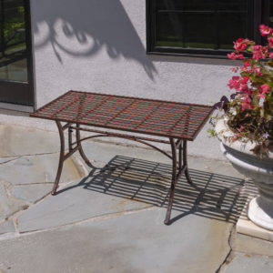 """""""Valley Forge"""" Iron Garden Table in Antique Bronze"""
